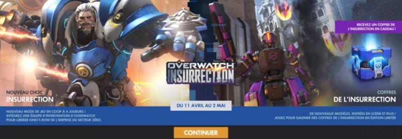 Overwatch Insurrection Menu