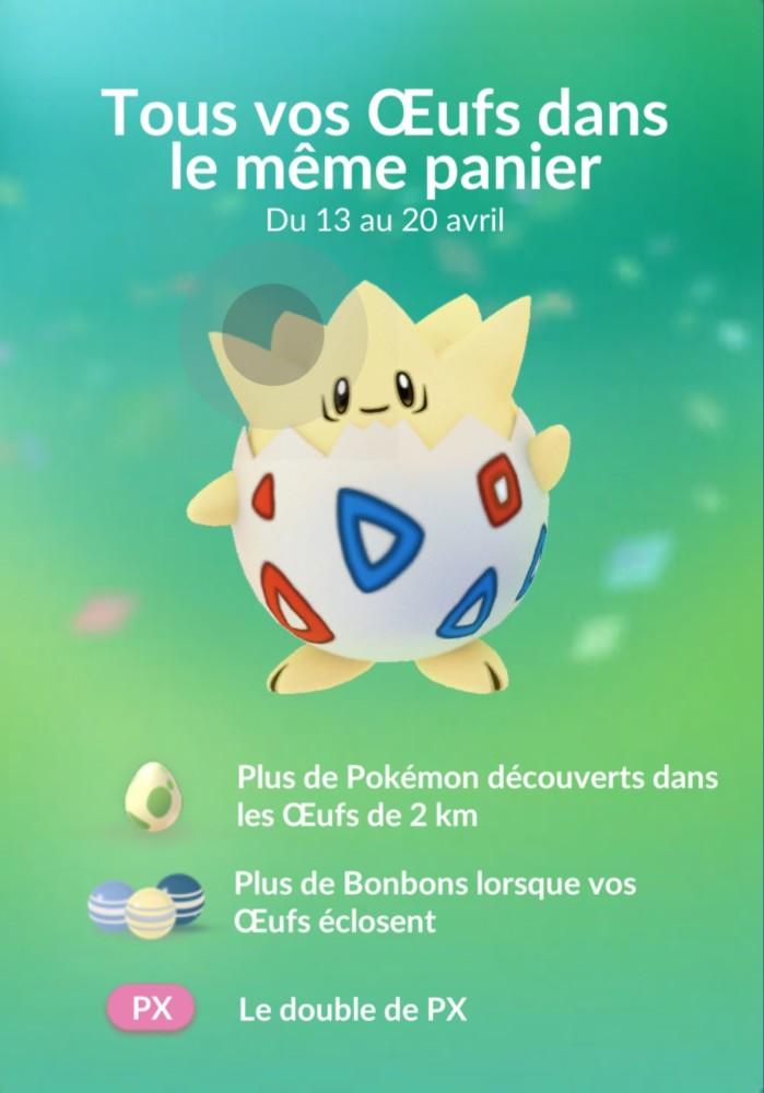 Pokémon GO Festival des oeufs règles