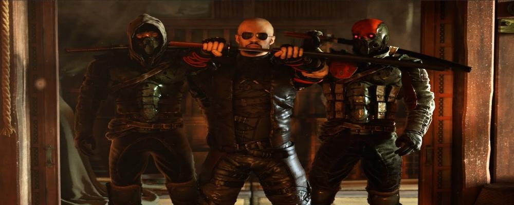 Image de Shadow Warrior 2 avec Wang, le personnage principal, et deux autres personnages