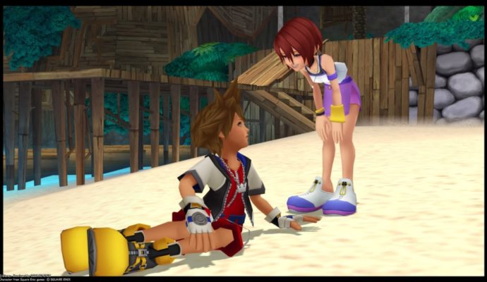 Kingdom Hearts HD 1.5 + 2.5 ReMIX - Sora et Kairi sur l'Île du Destin