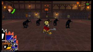Kingdom Hearts HD 1.5 + 2.5 ReMIX - Sora combattant des sans coeur