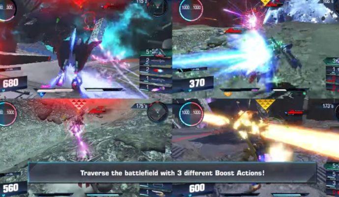 L'écran splité dans Gundam Versus