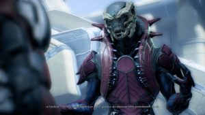 Un Kert de Mass Effect: Andromeda explique que nous lui sommes inférieurs.