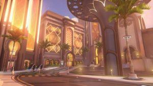 L'une des deux maps sorties durant la première année d'Overwatch : Oasis