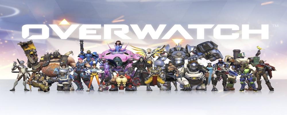 L'une des images d'Overwatch, avec la plupart des personnages d'Overwatch