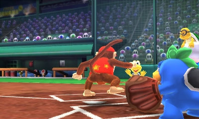 Mario Sport Superstars Diddy Kong baseball