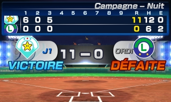 Mario Sport Superstars baseball tournoi
