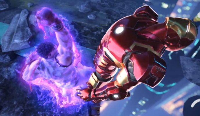 Marvel vs Capcom Infinite Ryu défonce Iron Man