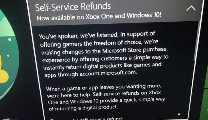 Image de l'article montrant le remboursement des jeux dématérialisés sur Xbox et Windows 10, provenant du site d'actualité Reddit