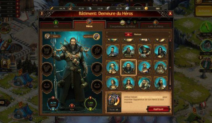Vikings: War of Clans interface personnalisation