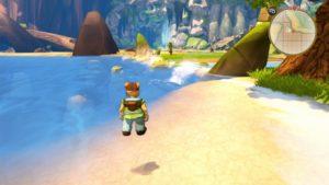 Le personnage flotte sur l'eau. Un bug récurrent dans Shiness.