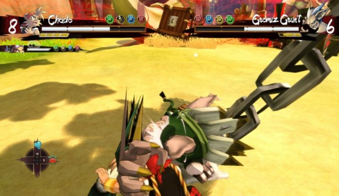La caméra insupportable de Shiness lors d'un combat.