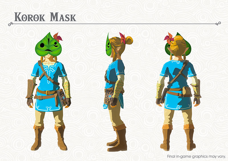 The Legend of Zelda: Breath of the Wild masque Korok