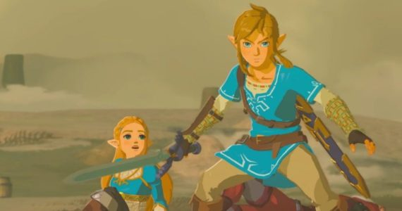 Link et Zelda dans The Legend of Zelda: Breath of the Wild