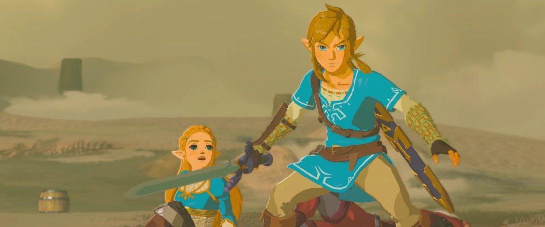 Link et Zelda dans The Legend of Zelda: Breath of the Wild