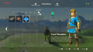 The Legend of Zelda: Breath of the Wild Travel Medaillon médaillon de voyage dans l'inventaire