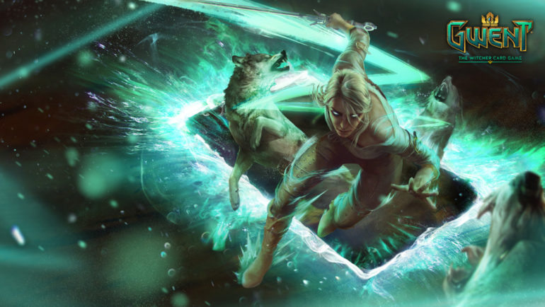 GWENT: The Witcher Card Game Ciri et des loups