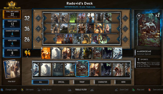 GWENT: The Witcher Card Game l'heure du duel