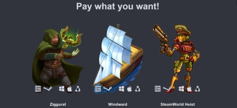 Humble Indie Bundle 18 palier 1 : Ziggurat, Windward, SteamWorld Heist