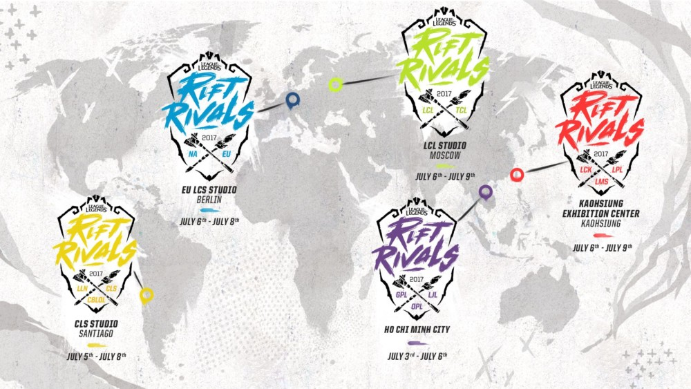 League of Legends - Rift Rivals dans le monde