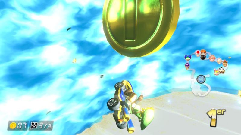 Mario Kart 8 Deluxe sur Nintendo Switch - Carapace Bleue explosion