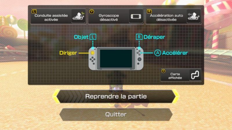 Mario Kart 8 Deluxe Nintendo Switch contrôles