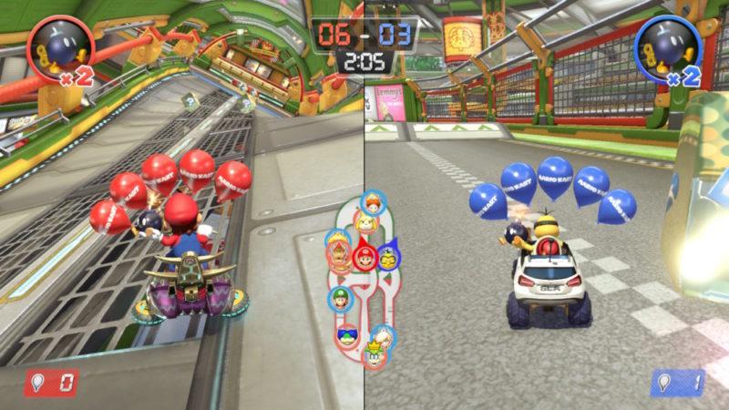 Mario Kart 8 Deluxe sur Nintendo Switch - Multijoueurs mode Ballons