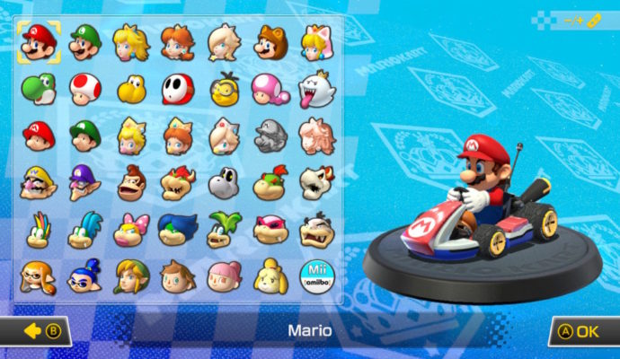 Mario Kart 8 Deluxe Nintendo Switch - Personnages