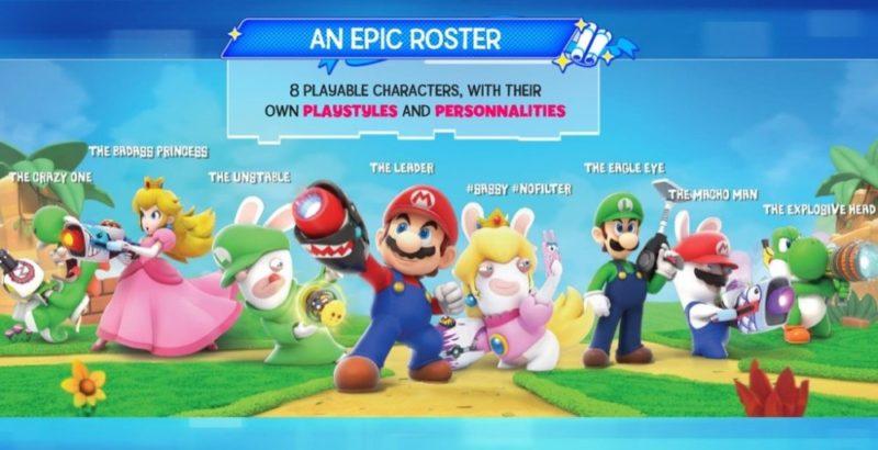 Mario + Lapins Crétins Kingdom Battle personnages jouables