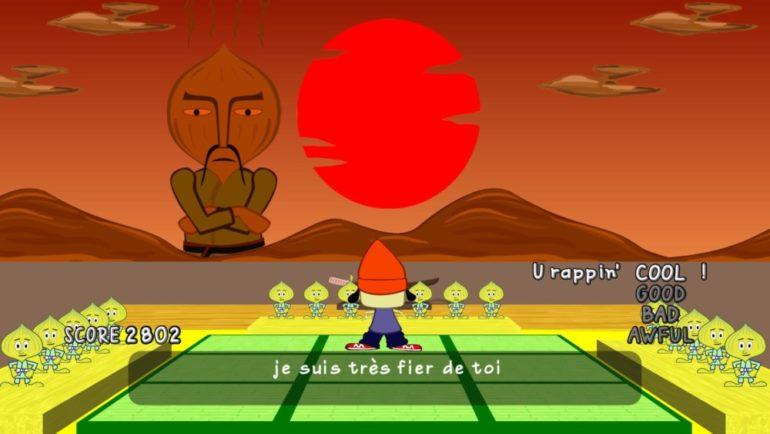 PaRappa the Rapper Remastered Master Onion est fier