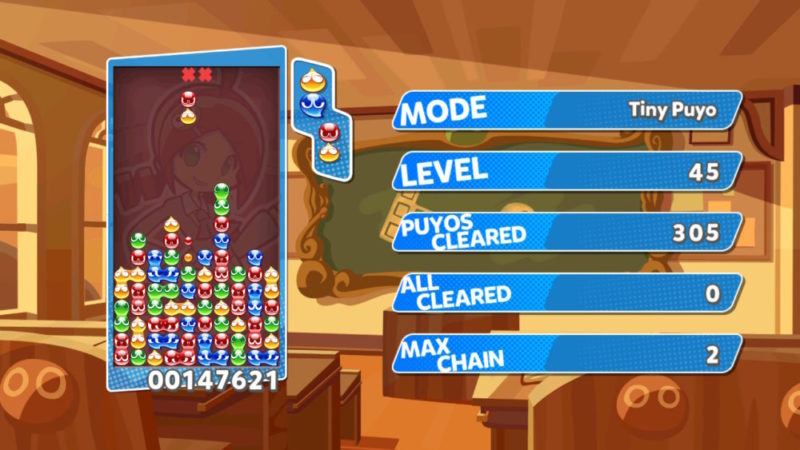Mode Tiny Puyo dans Puyo Puyo Tetris