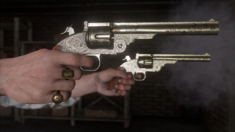 Red Dead Redemption 2 pistolets revolvers