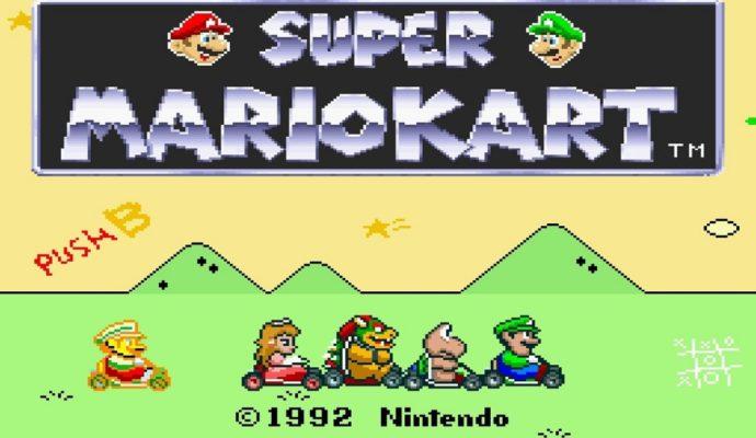 Mario Kart 8 Deluxe - Super Mario Kart écran d'accueil