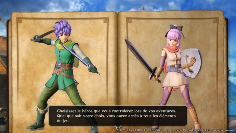 Dragon Quest Heroes II - Choix du personnage