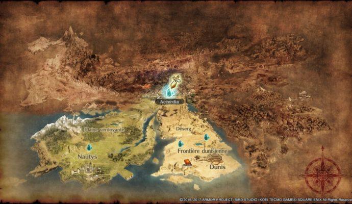 Dragon Quest Heroes II - La carte du monde