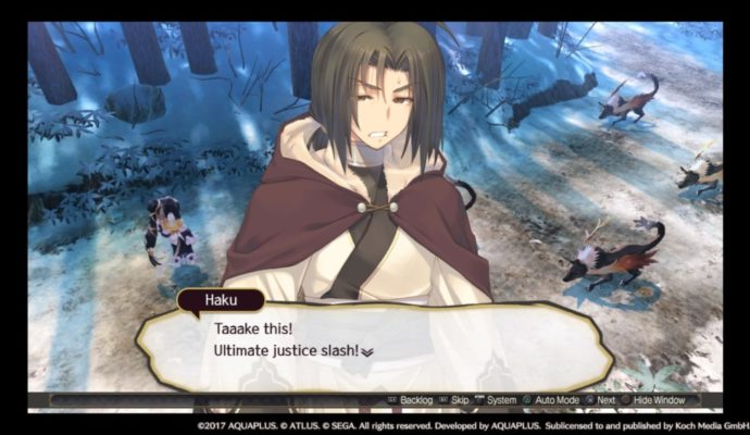 Utawarerumono: Mask of Deception Ultimate justice slash