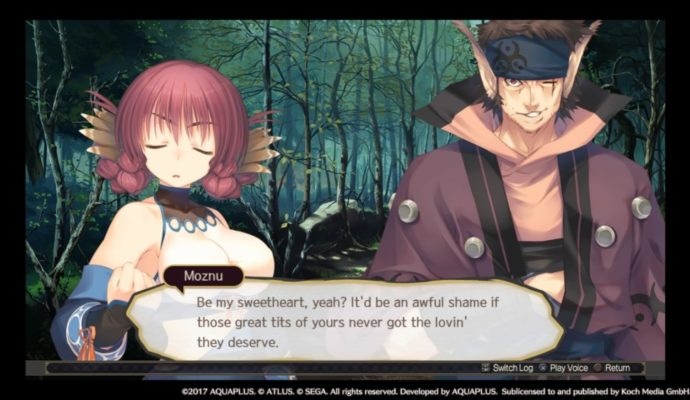 Utawarerumono: Mask of Deception humour niveau Franck Dubosc
