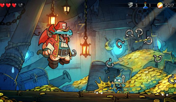 Wonder Boy: The Dragon's Trap Piranha-Man VS Pirate-Crocodile plein aux as