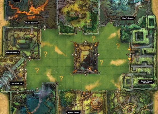 Cluedo Zelda lieux