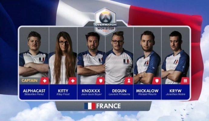 L'équipe française d'Overwatch en 2016