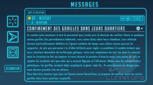 Un échange de mail entre deux scientifiques de la Base Coloniale Lunaire Horizon dans Overwatch