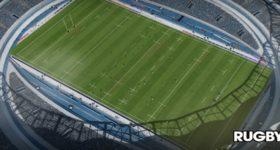 Un terrain de rugby dans RUGBY18