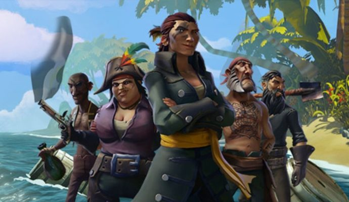 Un équipage de Pirates de Sea of Thieves