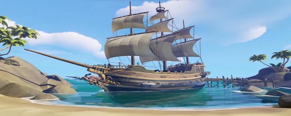 L'image d'un bateau de Sea of Thieves