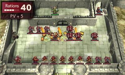 Une forteresse ennemie dans Fire Emblem Echoes: Shadows of Valentia