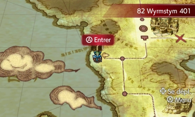 La carte du monde de Fire Emblem Echoes: Shadows of Valentia