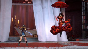 Bloodstained: Ritual of the Night La femme en rouge en parapluie