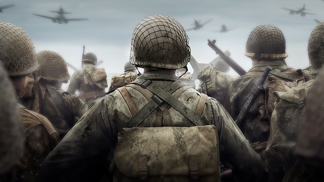 Call of Duty: WWII soldat de dos