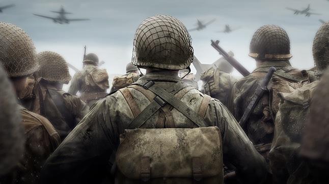 Call of Duty: WWII soldat de dos