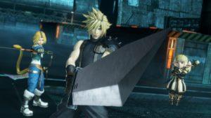 Dissidia Final Fantasy NT Cloud, Zidane et un genre de patate habillée